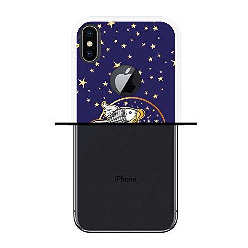 iPhone X Hülle, WoowCase Handyhülle Silikon für [ iPhone X ] Tierkreiszeichen Widder Handytasche Handy Cover Case Schutzhülle Flexible TPU - Transparent Housse Gel iPhone X Transparent D0167