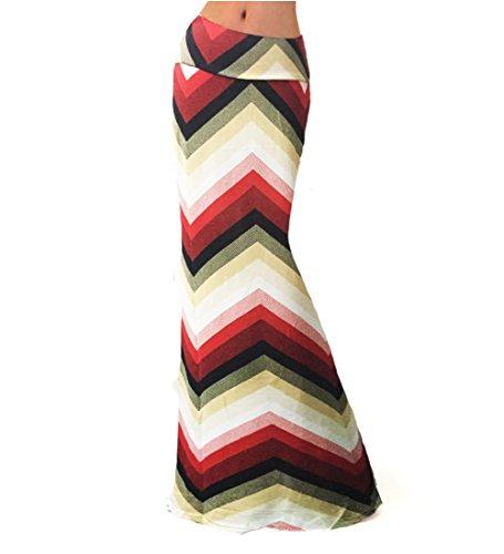 BFUSTYLE Frauen-Sommer-Bunt-Druck mit hoher Taille Strand-Maxi-Röcke Langer Rock (Rock Tie-dye-langer)