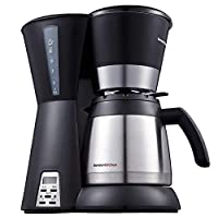 Bonsenkitchen 10-Cup Thermal Programmable Coffee Maker with Permanent Filter, Stainless-Steel Vacuum Jug, Water Level Indicator and Anti-Drip System (CM8761)