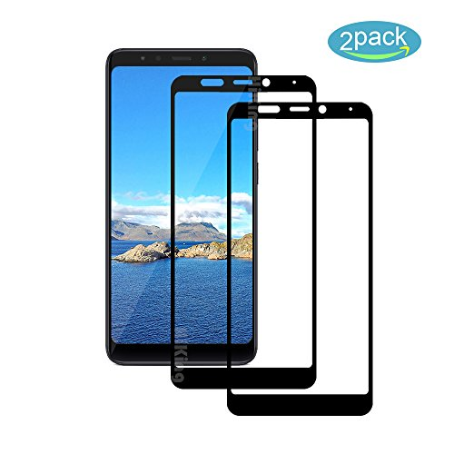 [2 Pack] Für Xiaomi Redmi 5 Plus Panzerglas Schutzfolie (Schwarz), Bildschirmschutzglas Panzerfolie für Xiaomi Redmi 5 Plus Schutzglas Folie [Ultra-klar] [9H Härte] [Kristallklar] [Bubble Free]