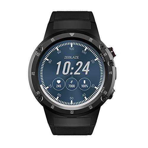 JS Products Männer 4 Plus 4G LTE Smartwatch Telefon, 1,4 Zoll Android 7.1 MTK6739 Viererkern GPS WiFi 5MP Kamera Smart Watch,Black