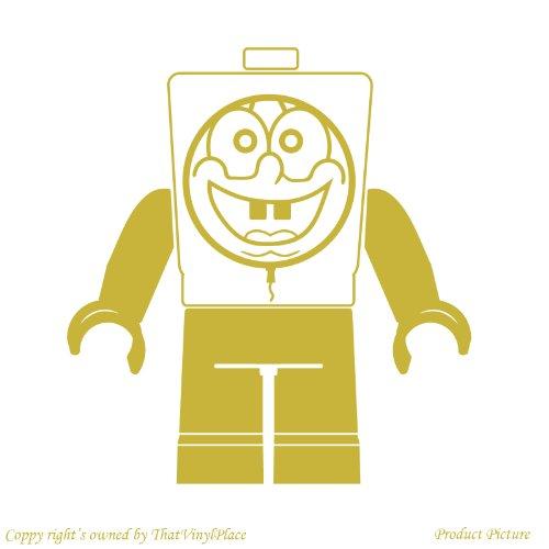 Preisvergleich Produktbild Lego, Legos, Lego-Figur, Lego, Fihures Lego Menschen, Menschen, Lego-Lego Minifigur Spiel Minifigur, 19 cm x 20 cm)-Farbe Gold-Metallic Badezimmer Childs Schlafzimmer Kind-Raum-Aufkleber Auto Vinyl, Fenster und Wand-tattoo/aufkleber Wand Windows ThatVinylPlace Wandtattoo-Art
