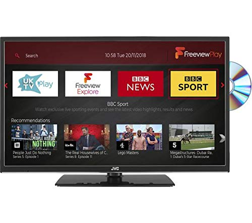 JVC 32 inch Smart HD Ready LED TV with Built-in DVD Player and Freeview HD with Freeview Play - (Black)