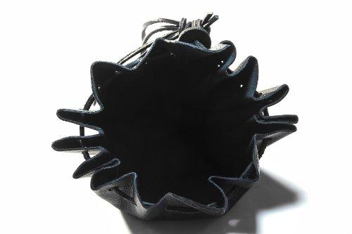 Mittelalterlicher Lederbeutel aus hochwertigem Rinds-Nappaleder Farbe: schwarz - 2