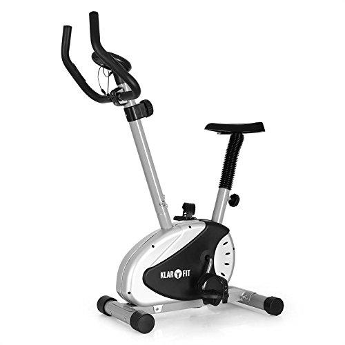 Klarfit Mobi Basic 20 bicicleta estática (dispositivo de entrenamiento con pulsómetro, pantalla de entrenamiento, 8 niveles de resistencia, sillín ajustable, base antideslizante)