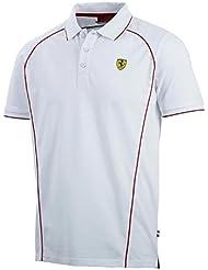Ferrari F1 Polo para hombre Blanco blanco Talla:extra-large
