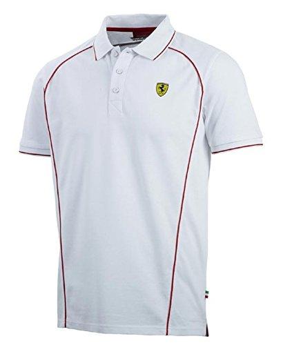 Ferrari F1Polo da uomo, Uomo, Polo, bianco, XL