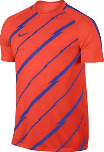 Nike M NK Dry SQD Top SS GX maglietta a maniche corte, uomo naranja (max orange / paramount blue / paramount blue)