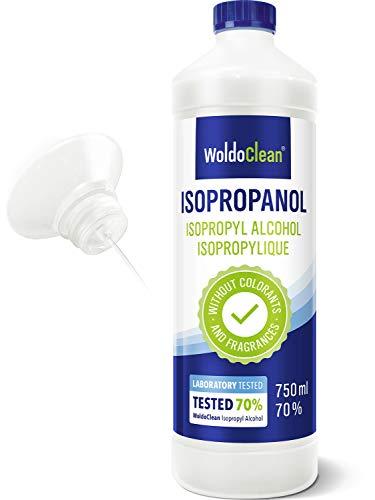 WoldoClean Isopropanol 70% Reinheit mit 30% destillierten Wasser - 750ml Reinigungsflüssigkeit