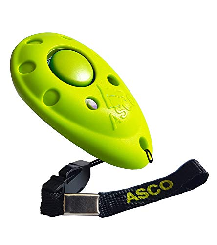 ASCO Premium Clicker für Clickertraining, Hunde Katzen Pferde Profi Clicker, Hundetraining Klicker grün AC10P