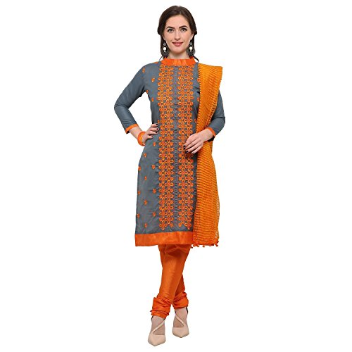 EyesOnMe Women's Cotton Salwar Suit (Unstitched)