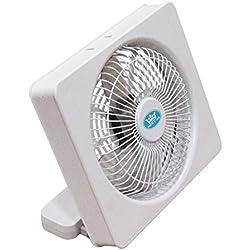 Ventilateur Carré 15cm Alimenté par Piles ou Port USB