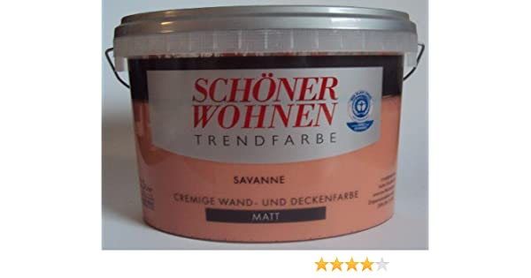 2 5 L Schoner Wohnen Trendfarbe Wandfarbe Savanne Matt Amazon De Baumarkt