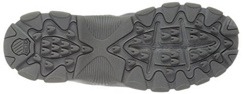 K-Swiss ST329 S Cuir Baskets Charcoal-Charcoal