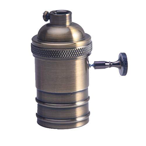 Licht Buchse Kupfer Lampe E26/E27 Antik Retro Leuchtmittel Messing Licht Halter (Aeneous Messing) - Aeneous Messing -