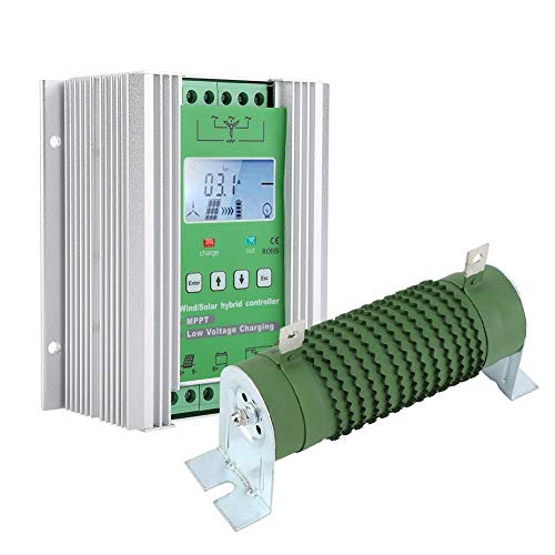 Duokon 12V / 24V Boost MPPT Wind Solar Hybrid-Laderegler Auto mit LCD-Display-Dump-Last für max. 800W Wind und max (JW2480)