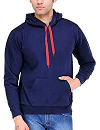 Scott International Cotton Blend Men's Sweatshirt With Zip Hood Navy Blue