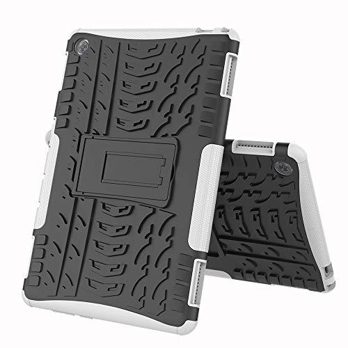 COVO® Huawei MediaPad M5 PRO (10.8 Inch)-Hülle Tough Hybrid Armor Case,Diese Handyhülle Anti-Wrestling Travel Essential Faltbare Halterung für Huawei MediaPad M5 PRO (10.8 Inch)(Weiß)