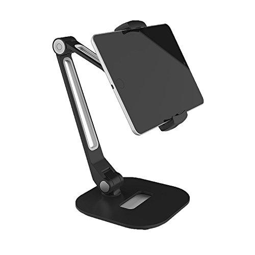 Sinland universelle Tablet-Halterung Handy-Halterung, Desktop-Ständer Multi-Winkel Tablet-Halter 360° kompatibel mit fast allen Geräten (Samsung Galaxy Tab, Apple iPad & iPhone, E-Reader) (mit Standfuß) (Tablet Desktop)