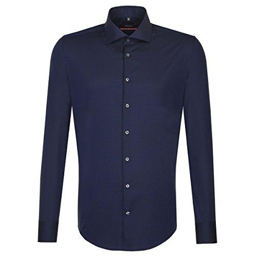 Michaelax-Fashion-Trade Camicia Classiche - Basic - Classico - Maniche Lunghe - Uomo Dunkelblau(19)