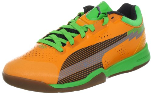 Puma  evoSPEED Indoor 1, Chaussures de handball mixte adulte Orange  - Orange (flame orange-team charcoa 02)