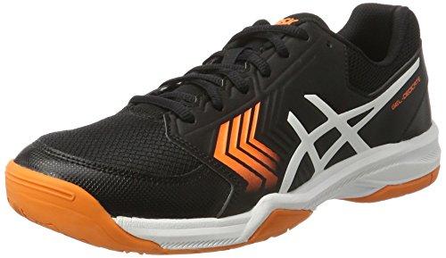 Asics Gel-Dedicate 5, Zapatillas de Tenis Hombre, Negro (Black/White/Shocking Orange), 46 EU
