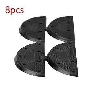 ZOZOSEP 8 Pcs Repair Pads Gummistiefel Schuhe Sole Heel Guard Tap für die meisten Stile Stiefel oder Schuhe
