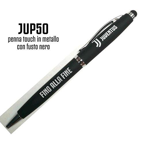 PENNA TOUCH METALLO FUSTO NERO BOX REGALO JUVE JUVENTUS PRODOTTO UFFICIALE