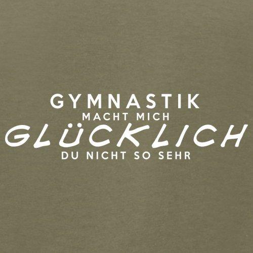 Gymnastik macht mich glücklich - Herren T-Shirt - 13 Farben Khaki
