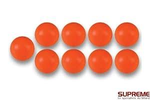 Bonzini - Balles Baby Foot en plastique Orange (10)