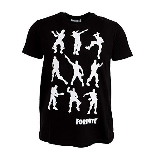 Fortnite - Camiseta Infantil con Bailes (9/10 Años) (Negro)