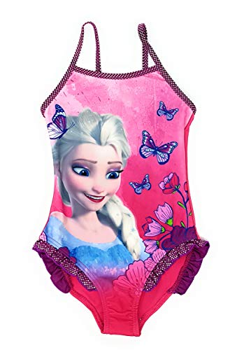 Die Eiskönigin - Frozen Mädchen Badeanzug Bademode (Lila, 5 Jahre (Größe 110)) (Frozen-unterwäsche Größe 5 Mädchen)