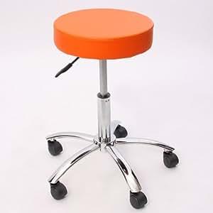 Tabouret pr cabinet médical Windhoek, simili-cuir, orange