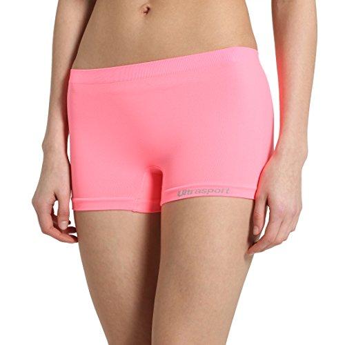Ultrasport Damen Funktions-Sport Hot Pants Hipster: als Sport Shorts, bequeme Hotpants, Unterwäsche für Frauen, Pink, L/XL (Hot Boyshort)