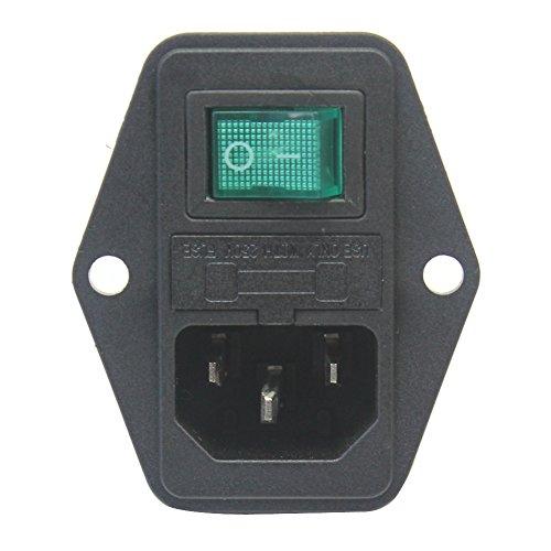 Preisvergleich Produktbild Einbau Buchse Kaltgeräte Stecker Dose männlich Flansch Stecker Geräte C14 Plug