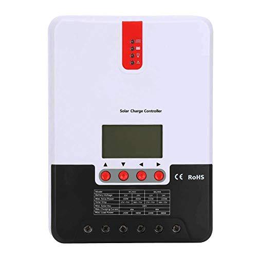 iSunergy 20A MPPT Solarladeregler Automatische Erkennung von 12 V / 24 V Automatische Erkennung von 100 V Max.PV-Batterieladeregler mit LCD-Display