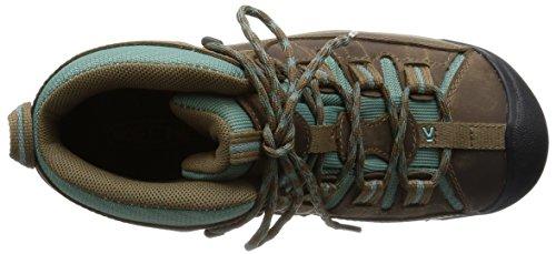 Keen Targhee II Mid, Chaussures de Randonnée Hautes Femme, Marron Shitake/Mineral Blue