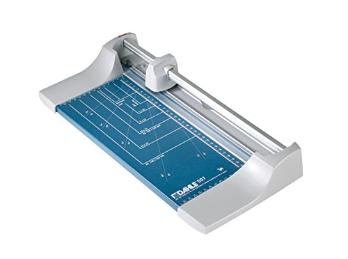 Preisvergleich Produktbild Dahle 507 Roll- und Schnitt-Schneidemaschine (Papierschneidemaschine mit einer Schnittlänge von 320 mm, bis zu DIN A4), blau