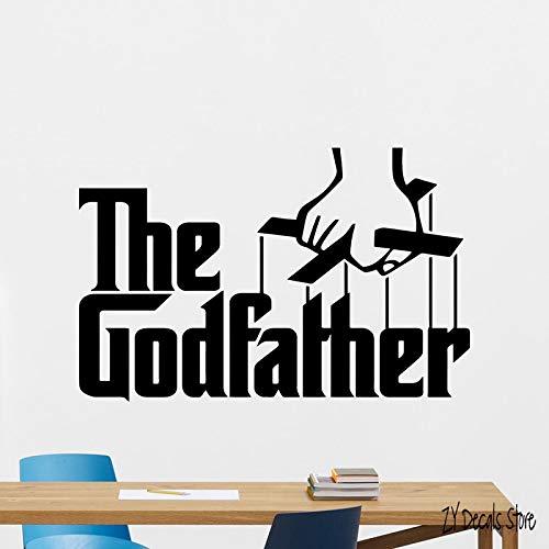tzxdbh Der Pate Wandtattoo Gangster Mafia Filme Vinyl Aufkleber Dekor Wandbild Für Schlafzimmer Wohnzimmer Dekoration 30 * 47 cm