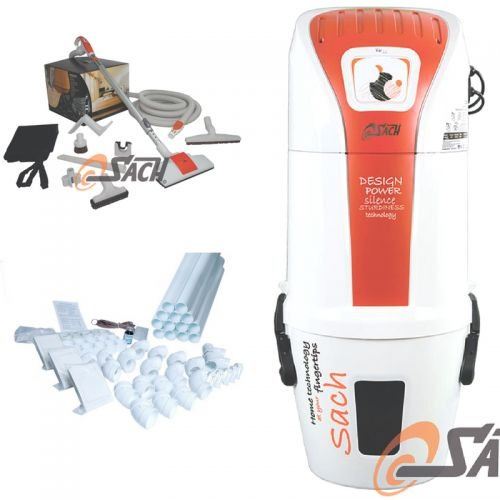 Zentralstaubsauger-Set-VAC-Dynamic-16-mit-Schlauch-Set-10m-15m-Vakuumrohr-3-Saugdosen-und-geeignet-fr-350m-Wohnflche