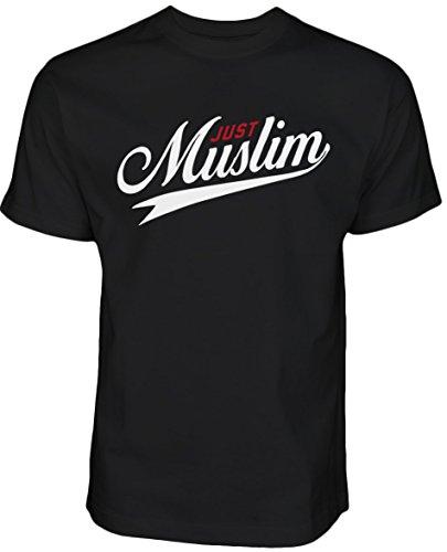 Just Muslim T Shirt Islamische Kleidung Islam Shirt Muslim T Shirt Streetwear (M, Schwarz)