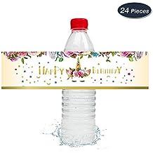 WERNNSAI Etiqueta de Botella de Mágico Unicornio Decoraciones de Fiesta de Cumpleaños de Niñas 24 Piezas