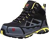 LARNMERN Sicherheitsschuhe Herren Leicht, Anti-Perforations Luftdurchlässige Stahlkappen Schuhe Reflektierend Anti Antistatis