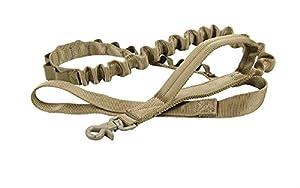 Laisse de dressage Militaire pour Grande Chien, Kaka mall Laisse d'entraînement Élastique Tactique en Nylon 1000D avec Poignée Rembourrée Longueur Réglable 130-150CM
