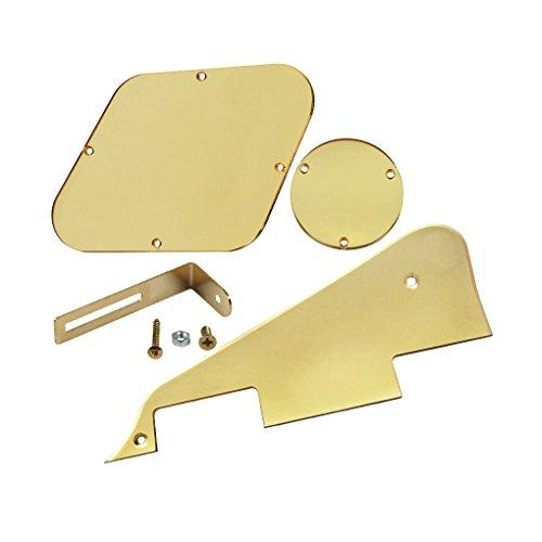 ikn-golden-mirror-lp-pickguard-plaque-de-plaque-arriere-plaque-cavite-couvre-avec-support-dore-pour-