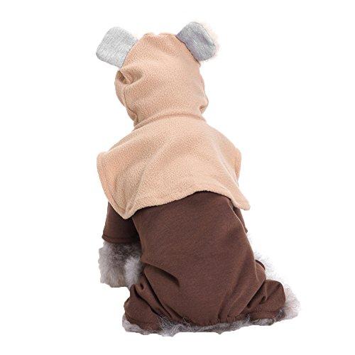 PU Ran Cute Elf Dog Pet vierbeinigen Fell Ohren Kapuzen Kostüm Bekleidung Cosplay Kleidung