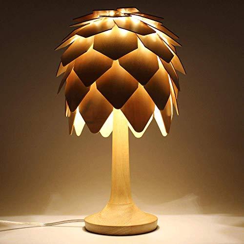 Tannenzapfen Schreibtisch (Tannenzapfen holz schreibtisch licht nachttischlampe handgemachte lichtquelle glühbirne/energiesparende/led-lampe ? für wohnzimmer hotel arbeitszimmer)