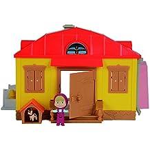 Masha y el Oso - Playset con figura y accesorios, color amarillo/rojo (Simba 9301633)