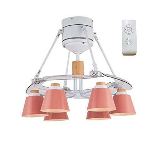ntilator Beleuchtet Mit Fernbedienung 48 Zoll Innenbeleuchtung Licht Wohnzimmer Küche (Color : Pink) ()