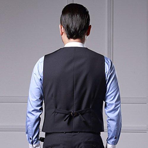 Gilet Uomo Maniche Lunghe Retrò Da Uomo Business Casual Da Sposa Slim Gilet Senza Maniche Nero Blu D